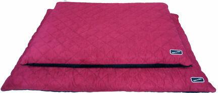 Hem & Boo Waterproof Quilted Flat Dog Bed - Black & Raspberry Crush