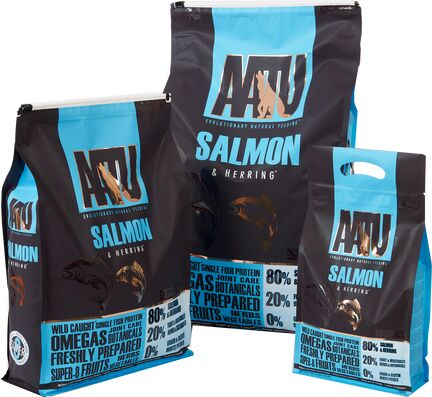 AATU 80/20 Salmon & Herring Dry Dog Food - Various Sizes