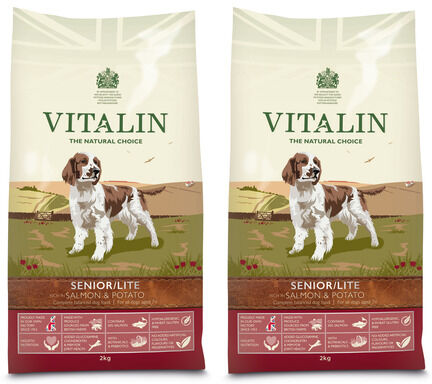 Vitalin Multi Buy Salmon & Potato Senior/Lite Dry Dog Food - 2 x 12kg