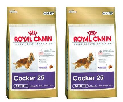 2 x 12kg Royal Canin Cocker 25 Dry Adult Dog Food