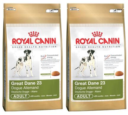 2 x 12kg Royal Canin Great Dane 23 Dry Adult Dog Food