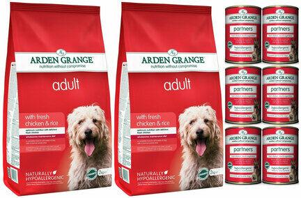 Arden Grange Chicken & Rice Wet & Dry Adult Dog Food Bundle