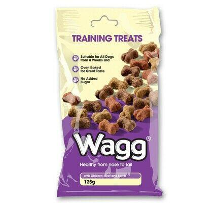 7 x 125g Wagg Training Chicken, Beef & Lamb Dog Treats