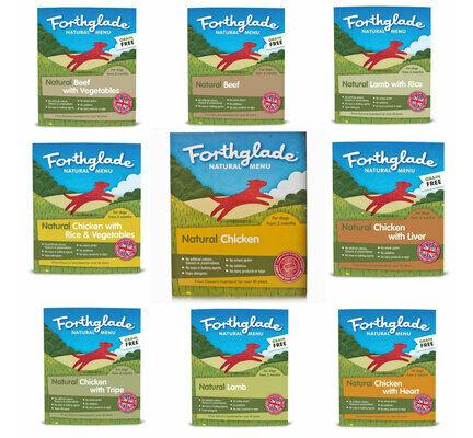 36 x 395g Forthglade Natural Menu Wet Dog Food