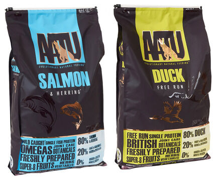 2 x 10kg AATU Multi Buy 80/20 Duck & Salmon Dry Dog Food