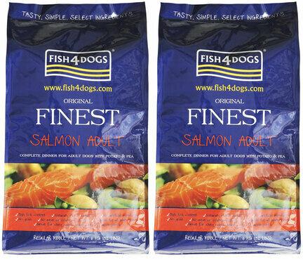 2 x 12kg Fish4Dogs Original Finest Salmon Regular Bite Adult Dog Food Multibuy