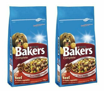 2 x 14kg Bakers Complete Beef & Country Veg Adult Dog Food Multibuy