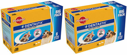 2 x 56 Pedigree Dentastix Daily Small Breed Dog Treats Multibuy - 112 Sticks