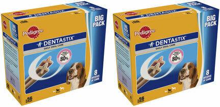 2 x 56 Pedigree Dentastix Daily Medium Breed Dog Treats Multibuy - 112 Sticks