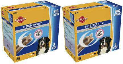 2 x 56 Pedigree Dentastix Daily Large Breed Dog Treats Multibuy - 112 Sticks