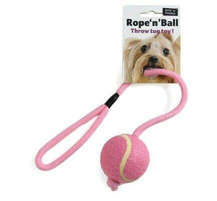 Sharples 'N' Grant Ruff 'N' Tumble Rope'N'Ball Tug Toy