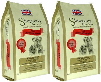2 x 12kg Simpsons Premium Adult Chicken & Brown Rice Dog Food Multibuy