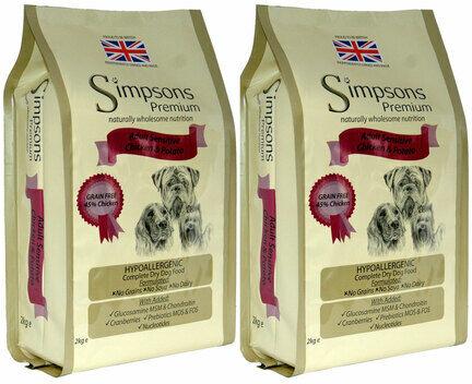 2 x 12kg Simpsons Premium Adult Sensitive Chicken & Potato Dry Dog Food Multibuy