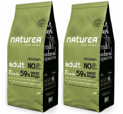 2 x 12kg Naturea Naturals Adult Chicken Dry Dog Food Multibuy