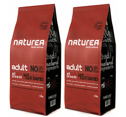 2 x 12kg Naturea Naturals Adult Lamb Dry Dog Food Multibuy