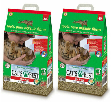 2 x 30L Cat's Best Okoplus Clumping Cat Litter Multibuy