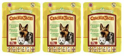 3 x 225g James Wellbeloved Crackerjacks Lamb, Rice & Tomato Dog Treats Multibuy