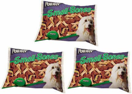 3 x 2kg Pointer Assorted Small Bones Dog Treats Multibuy