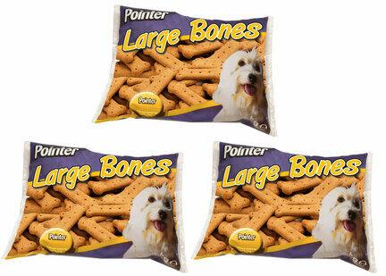 3 x 2kg Pointer Large Bones Dog Treats Multibuy