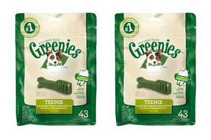 2 x 340g Greenies Original Teenie Dog Dental Chews