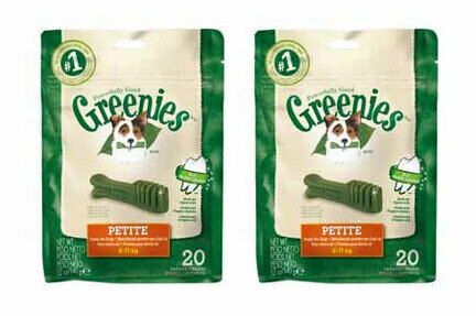 2 x 340g Greenies Original Petite Dog Dental Chews