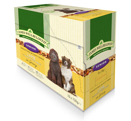40 x 150g James Wellbeloved Senior Lamb & Rice Pouches Multibuy