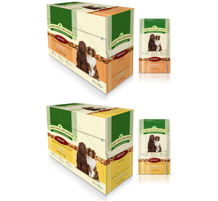 40 x 150g James Wellbeloved Adult Turkey & Lamb Pouches Multibuy