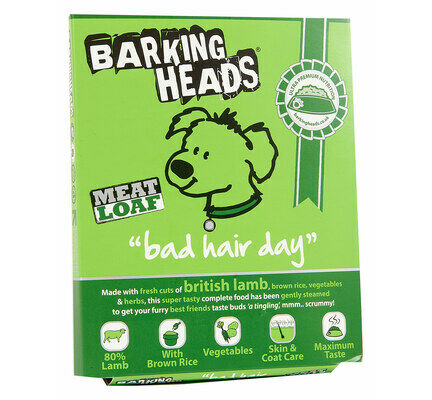 24 x 140g Barking Heads Bad Hair Day Lamb Wet Adult Dog Food