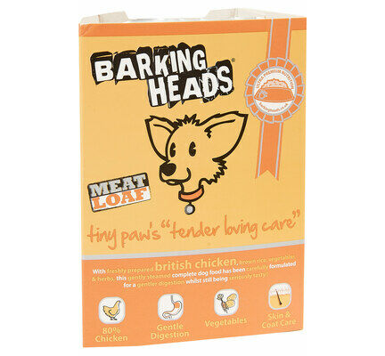 28 x 150g Barking Heads Tiny Paws Tender Loving Care Small Breed Wet Dog Food