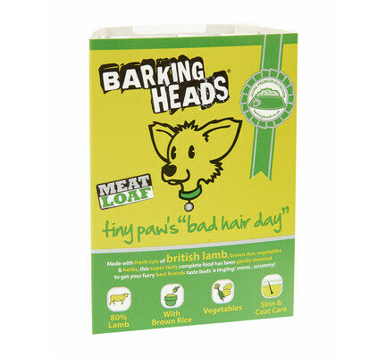 28 x 150g Barking Heads Tiny Paws Bad Hair Day Small Breed Adult Wet Dog Food