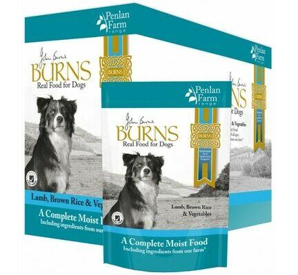 12 x 400g Burns Penlan Farm Complete Lamb Brown Rice & Veg Wet Dog Food Pouch