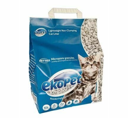 Pettex EkoPet Calcium Silicate Non Clumping Cat Litter 20L