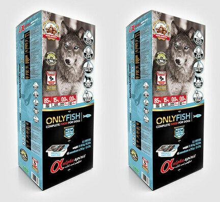 2 x 9.45kg - Alpha Spirit Only Fish Semi-moist Complete Dog Food - Multi Buy