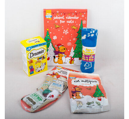 The Pet Express Cat Christmas Present Gift Bundle