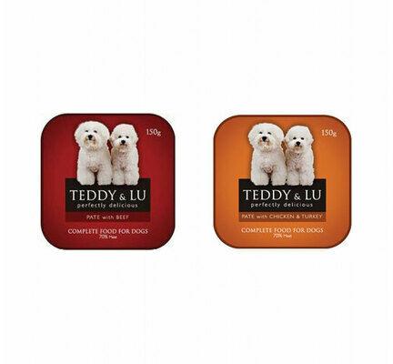 12 x 150g Beef 12 x 150g Chicken & Turkey Teddy & Lu Wet Dog Food