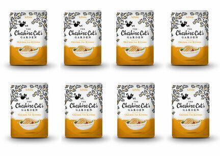 8 x 85g Cheshire Cat's Garden Kitten Chicken Pouches
