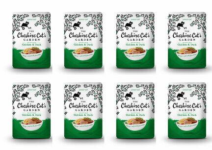 8 x 85g Cheshire Cat's Garden Chicken and Duck Pouches