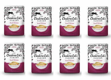 8 x 85g Cheshire Cat's Garden Senior/Sterilised Fresh Chicken Pouches