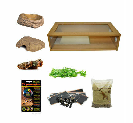 Royal Python Large Monkfield Vivarium Starter Kit - Oak 30 Inch