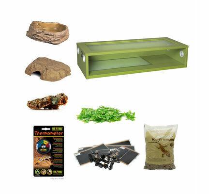 Royal Python Extra Large Monkfield Vivarium Starter Kit - Green 36 Inch