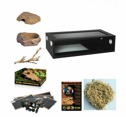 Monkfield Vivarium Corn Snake Starter Kit - Black 30 Inch