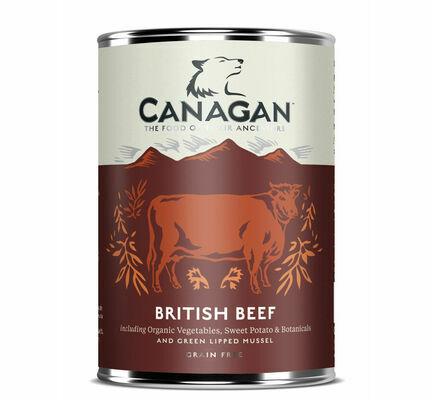 6 x 400g Canagan British Braised Beef Wet Dog Dood