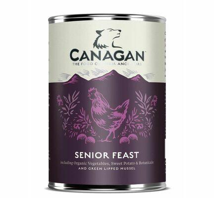 6 x 400g Canagan Senior Feast Chicken and Turkey Wet Dog Food