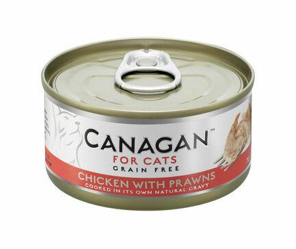 12 x 75g Canagan Chicken with Prawns Grain-Free Cat Food