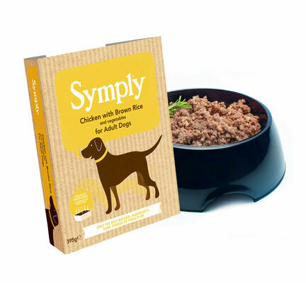 28 x 395g Symply Adult Chicken, Brown Rice & Veg Wet Dog Food