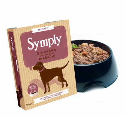 7 x 395g Symply Adult Duck and Turkey with Sweet Potato Wet Dog Food
