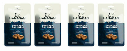 4 x 150g Canagan Omega Salmon Biscuit Bakes Dog Treats