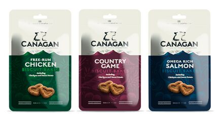 3 x 150g Canagan Biscuit Bakes Dog Treats Mix-And-Match