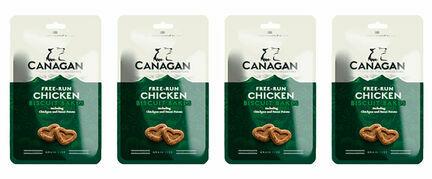 4 x 150g Canagan Free Run Chicken Biscuit Bakes Dog Treats