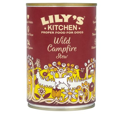 6 x 400g Lily's Kitchen Wild Campfire Stew Wet Dog Food